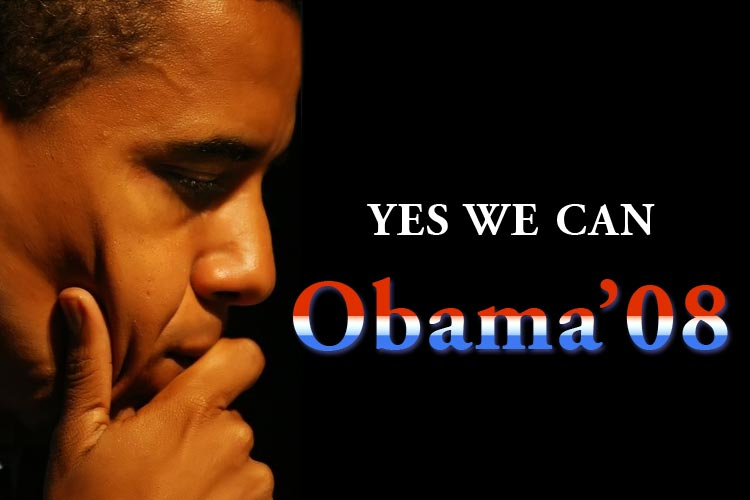 yes we can by barack obama Sen barack obama, vying to become the nation's first black president, has won the south carolina primary today, boosted by a record turnout of african-american voters.