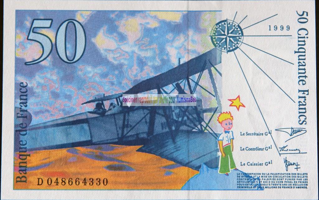 50 Francs saint exupery